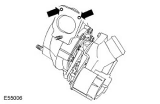 Отсверливайте винты турбокомпрессора