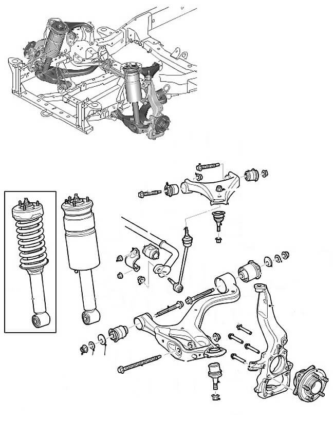 Ленд ровер дискавери пневмоподвеска схема