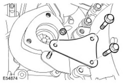Демонтируйте крепление турбокомпрессора