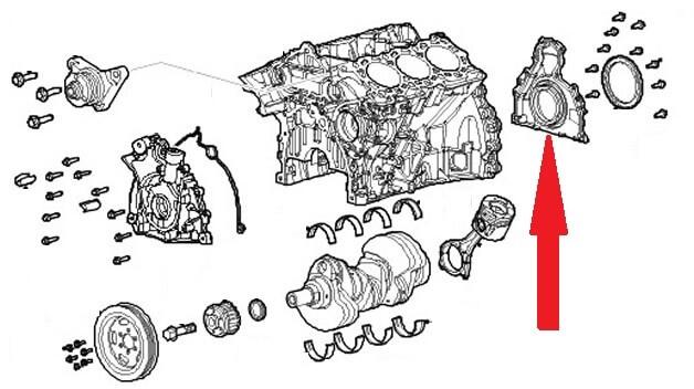 Распространённые проблемы Discovery 3, замена сальника коленвала