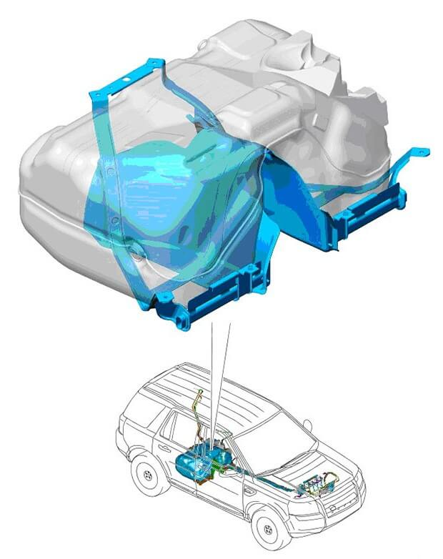 конструкция топливного бака на фрилендер 2