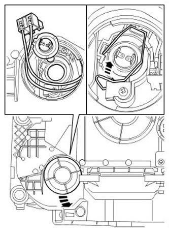 Как заменить лампу на Land Rover Discovery 3