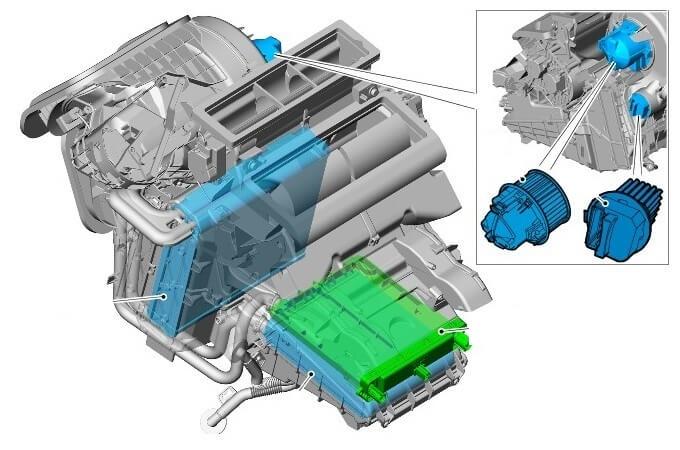 Особенности замена мотора отопителя на Фрилендер 2