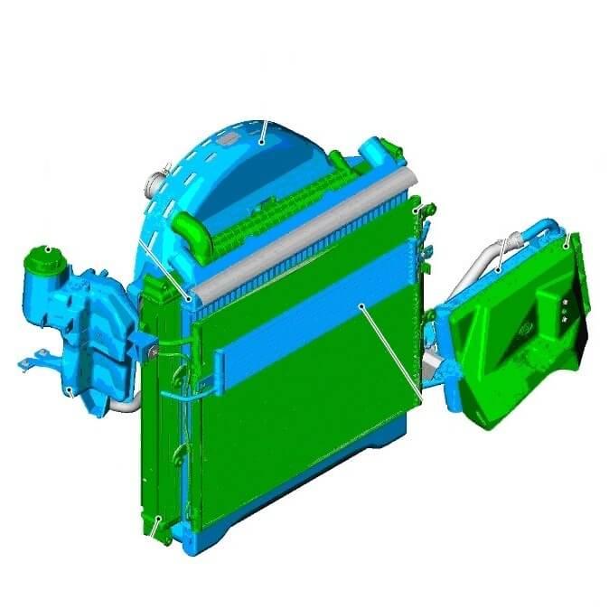 Система охлаждения дизельного двигателя 3.6 тд