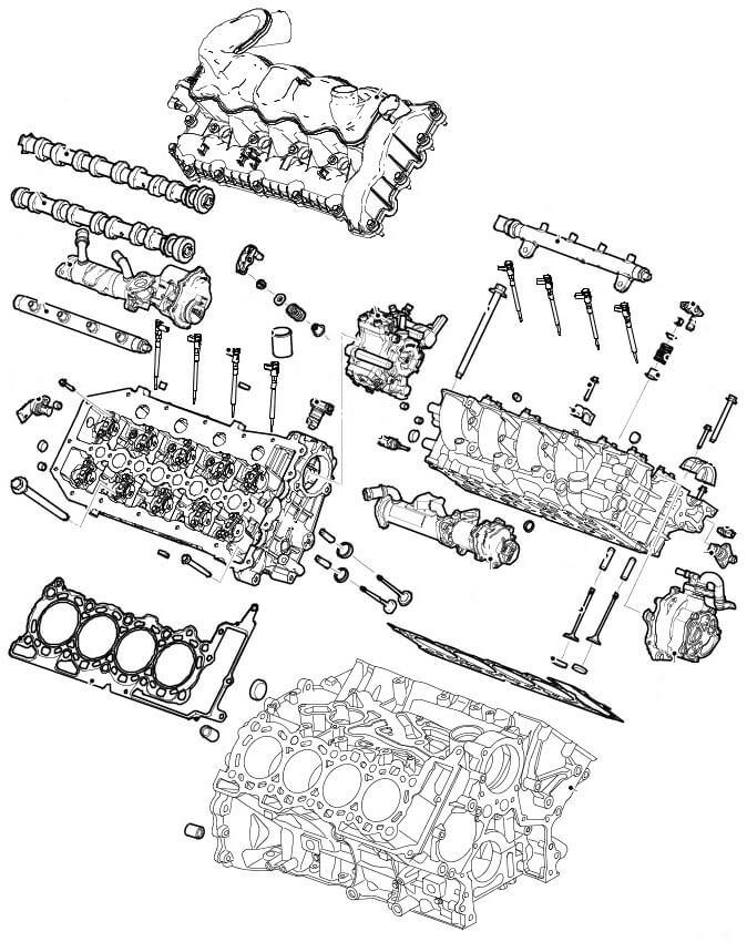 ГБЦ 3.6 TD Range Rover и Range Rover Sport