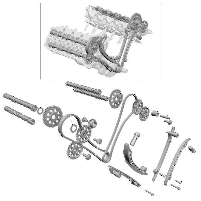 Фазы газораспределения 4.4 TD Land Rover RRS