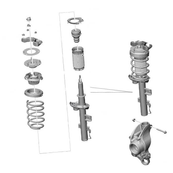 Принцип работы амортизаторов на Range Rover Evoque и как их чинить