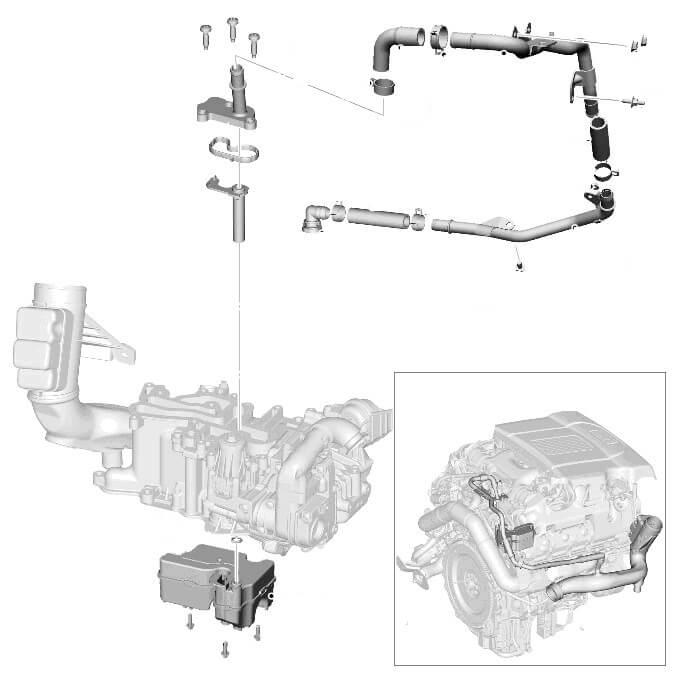 Вентиляция картера 4.4 TD Range Rover Sport