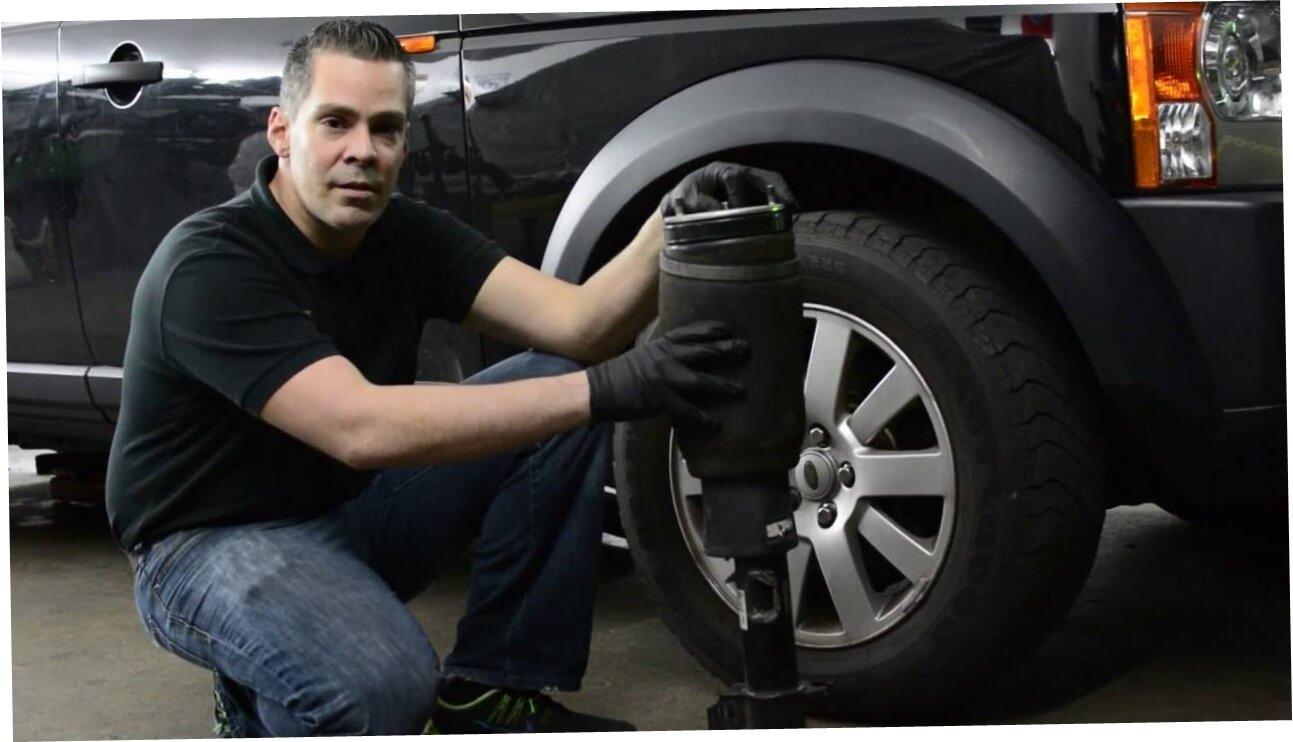 Замена пневмобаллона на Range Rover в автосервисе LR-King